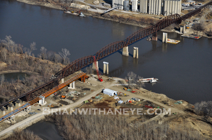 Missouri River Bridge Work